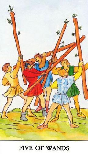 Značenje tarot karte Petica štapova