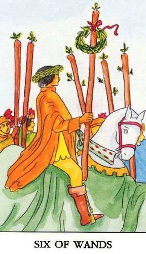 Značenje tarot karte Šestica štapova