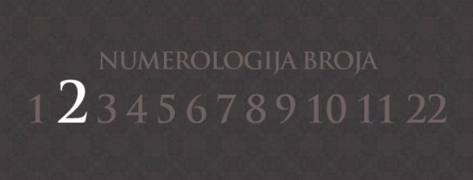 Numerologija za broj 2