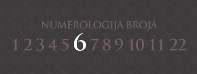Numerologija za broj 6