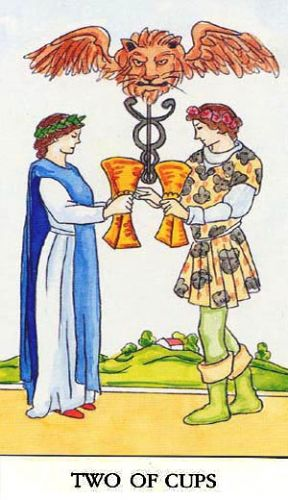 Značenje tarot karte Dvojka pehara