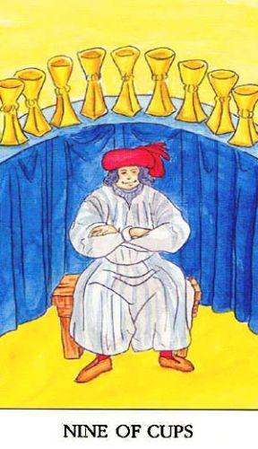 Značenje tarot karte Devetka pehara