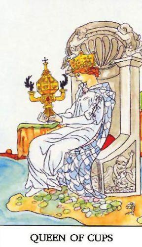 Značenje tarot karte Kraljica pehara
