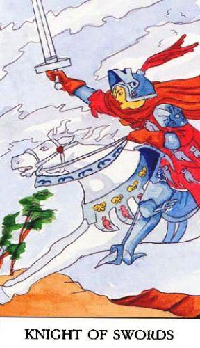 Značenje tarot karte Vitez mačeva