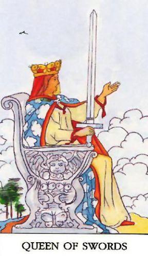 Značenje tarot karte Kraljica mačeva