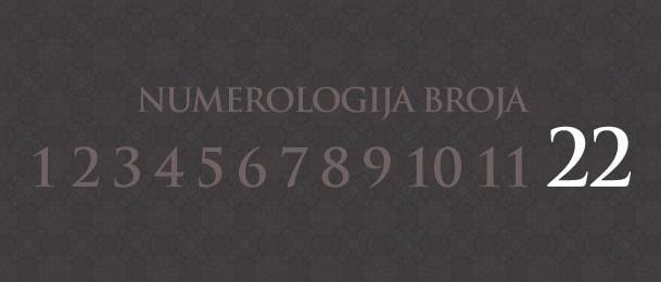 Numerologija za broj 22